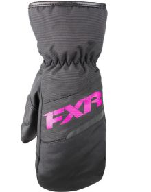FXR Octane Child Mitts Black/Fuchsia