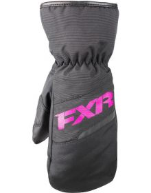 FXR Octane Youth Mitts Black/Fuchsia