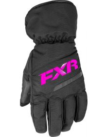 FXR Octane Child Glove Black/Fuchsia