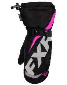 FXR Helix Race Youth Mitt Black/Fuchsia