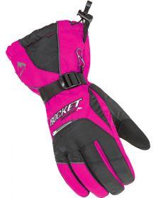 Rocket SnowGear Storm Womens Snowmobile Glove Pink