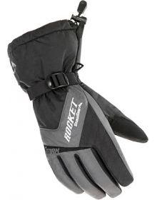 Rocket Snow Gear Storm Womens Snowmobile Glove Gray/Black