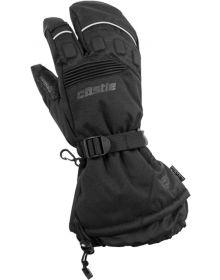 Castle X Platform 3 Finger Womens Snowmobile Gloves Black