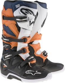 Alpinestars Tech 7 Enduro Boots Black/Orange/Blue/White