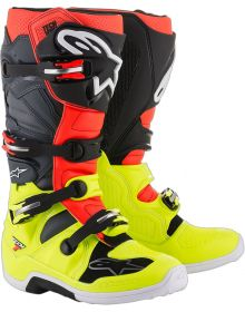 Alpinestars 2018 Tech 7 Boots Yellow Fluo/Red Fluo/Gray/Black