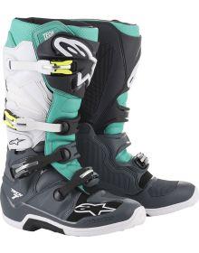 Alpinestars  Tech 7 Boots Dark Gray/Teal/White