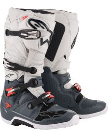 Alpinestars  Tech 7 Boots Dark Gray/Light Gray/Fluo Red