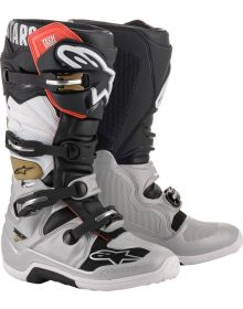 Alpinestars 2020 Tech 7 Boots Black/Silver/White/Gold