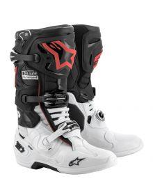 Alpinestars Tech 10 Deus Boots Dark Black/White/Red