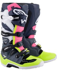 Alpinestars Tech 7 Boots Gray/Black/Pink