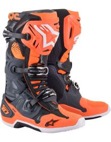 Alpinestars 2021 Tech 10 Boots Gray/Orange/Black/White