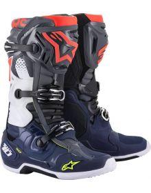 Alpinestars 2021 Tech 10 Boots Gray/Blue/Red
