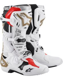 Alpinestars Squad LE Tech 10 Boots White/Gold