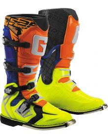 Gaerne G-React Boots Orange/Blue/Yellow
