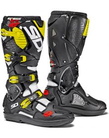 Sidi Crossfire 3 SRS Boots White/Black/Flo-Yellow
