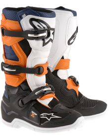 Alpinestars Tech 7S Youth Boots Black/Orange/Blue