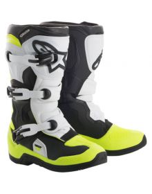 Alpinestars 2018 Tech 3S Youth Boots Black/White/Yellow Fluo