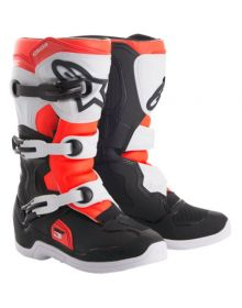 Alpinestars 2018 Tech 3S Kids Boots Black/White/Red Fluo