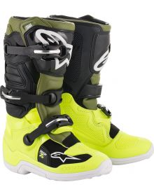 Alpinestars Tech 7S Youth Boots Fluo Yellow/Military Green/Black