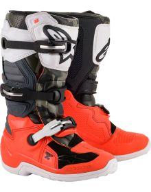 Alpinestars Tech 7S Youth Boots Magneto Black/Orange/White