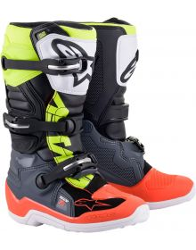 Alpinestars 2021 Tech 7S Youth Boots Gray/Red/Yellow