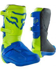 Fox Racing 2021 Comp Youth Boot Yellow/Blue