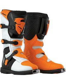 Thor Blitz Boot Youth White/Orange