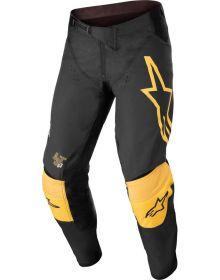 Alpinestars 2022 Techstar Quadro Pants Black/Yellow/Tangerine