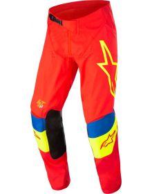 Alpinestars 2022 Techstar Quadro Pants Bright Red/Fluo Yellow/Blue