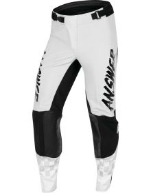 Answer Racing A22 Elite Redzone Pant Ghost/Black