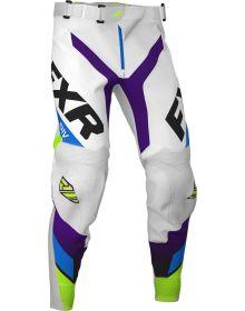 FXR 2020 Revo MX Pant White/Purple/Lime