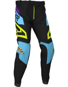 FXR 2020 Podium MX Pant Black/Sky Blue/Purple/Hi Vis