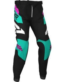 FXR 2020 Podium MX Pant Black/Mint/Electric Pink