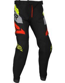 FXR 2020 Podium MX Pant Black/Gray/Hi Vis/Nuke Red