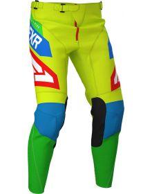 FXR 2020 Podium Air MXPant Hi Vis/Blue/Green/Red