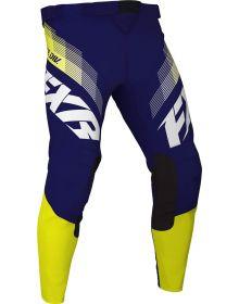 FXR 2021 Clutch MX Pant White/Navy/Yellow
