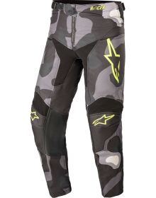 Alpinestars Racer Tactical Youth Pants Gray Camo/Yellow Fluorecent