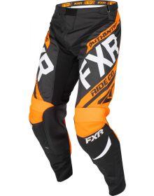 FXR 2019 Clutch Retro MX Youth Pant Black/Orange/Lt-Grey