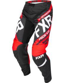 FXR 2019 Clutch Retro MX Youth Pant Black/Red/White