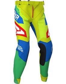 FXR 2020 Clutch Air Youth MX Pant Hi Vis/Blue/Green/Red