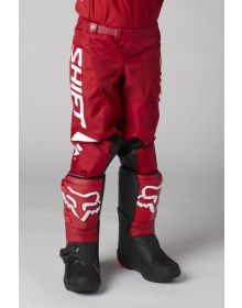 Shift MX White Label Trac Youth Pant Red