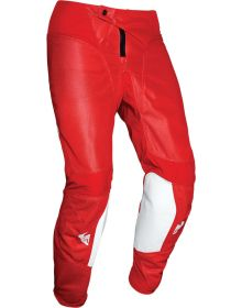 Thor 2021 Pulse Air Raid Youth Pants White/Red
