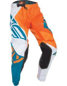 Fly Racing 2017 Evo Youth Pants Orange/Dark Teal