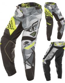 Fly Racing 2017 Kinetic Crux Youth Pants Black/Hi-Vis