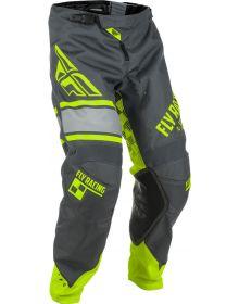 Fly Racing 2018 Kinetic Era Youth PantsGrey/Hi-Vis