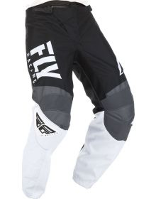 Fly Racing 2019 F-16 Youth Pants Black/White/Grey