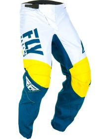 Fly Racing 2019 F-16 Youth Pants Yellow/White/Navy