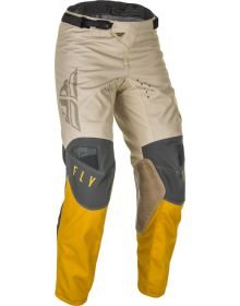 Fly Racing 2021 Kinetic K121 Youth Pants Mustard/Stone/Grey