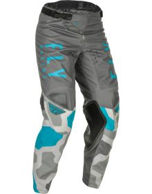 Fly Racing 2021 Kinetic K221 Youth Pants Grey/Blue