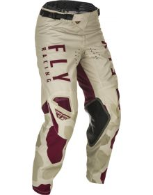 Fly Racing 2021 Kinetic K221 Youth Pants Stone/Berry